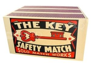 SOLO - zápalky extra dlouhé ZED45 the key,ZED
