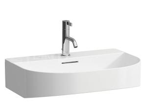 SONAR umyvadlo 60 x 42 cm, s otvorem pro baterii, bílé