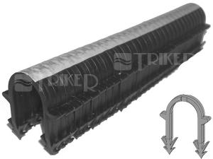 Spona plastová do Tackeru 40 x 32 mm - 2 trny (náboj=25 ks spon)