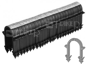 Spona plastová do Tackeru 50 x 32 mm - 2 trny (náboj=25 ks spon)