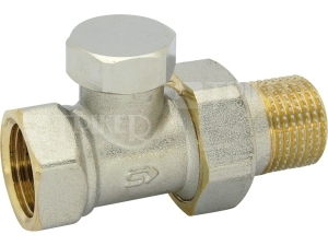 Šroubení radiátorové uzaviratelné přímé VE-4308A