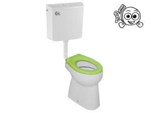 Stojící WC komplet BABY vodorovný