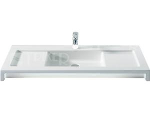 Stratum umyvadlo 110 x 50 cm, s otvorem bílé