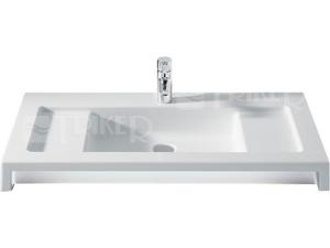 Stratum umyvadlo  90 x 50 cm, s otvorem bílé