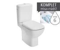 Style klozet kombinační 41cm Rimfree, univerzální odpad, délka 64cm,bílý, L29020, Kolo