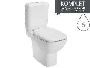 Style klozet kombinační 41cm univerzální odpad, délka 64cm, bílý