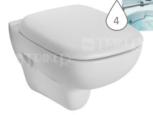 Style klozet závěsný 51 cm RIMFREE bez splachovacího kruhu, bílý