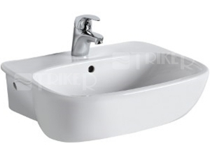 Style umyvadlo polozápustné 55 x 44,5 cm bílé