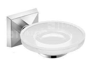 Talas Classic držák se skleněnou mýdlenkou, chrom/matné sklo