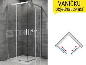 TBFAC sprchový kout s posuvnými dveřmi 1000/1900 profil:aluchrom, výplň:čiré sklo