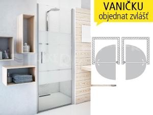 TCN1 sprchové dveře jednokřídlé do niky TCN 1/1100 (1075-1110mm) profil:stříbro, výplň:transparent