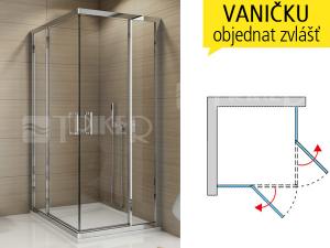 TED2D Sprchový kout 700/1900 P profil:bílý,výplň:čiré sklo