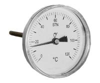 """Teploměr 7011 AZ 80mm zadní 1/2"""" 0-120°C L=100mm, 7011-AZ- L=100MM, Prematlak"""