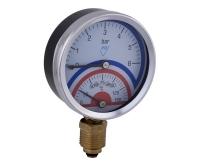 """Termomanometr 03801 80mm spodní 1/2"""" 0- 6 bar, 03801-AZ-0- 6BAR, Prematlak"""