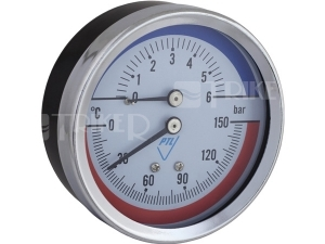 Termomanometr 03802 AZ 80mm zadní 1/2