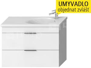 Tigo N skříňka s2 zásuvkami pod umyvadlo 100 x 38,5 cm, bílá