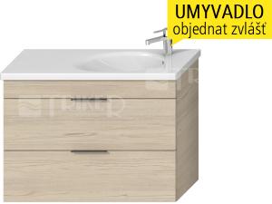 Tigo N skříňka s2 zásuvkami pod umyvadlo 100 x 38,5 cm, jasan