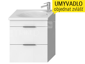 Tigo N skříňka s2 zásuvkami pod umyvadlo 65 x 38,5 cm, bílá