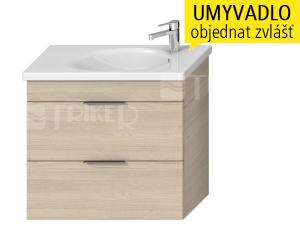 Tigo N skříňka s2 zásuvkami pod umyvadlo 80 x 38,5 cm, jasan