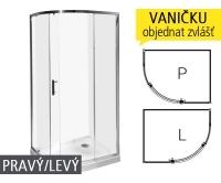 Tigo sprchový kout 100 x 80 H2512110026661 stříbro/arctic