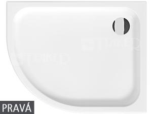 Tigo vanička sprchová keramická 100 x 80 cm pravá bílá