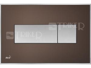 Tlačítko ovládací Alca s vloženou barevnou deskou M137x M1373 hnedá