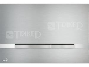 Tlačítko ovládací Alca STRIPE kovové mat/lesk