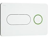 Tlačítko ovládací Jika PL8 Dual Flush bílé/zelený kroužek, H8936460000001, Jika
