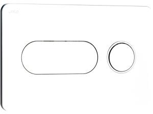 Tlačítko ovládací Jika PL8 Dual Flush chrom/matný kroužek