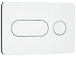 Tlačítko ovládací Jika PL8 Dual Flush matný chrom/lesklý kroužek