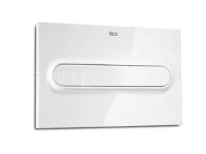 Tlačítko ovládací Roca PL1 Single Flush bílé