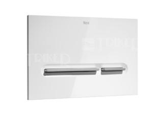 Tlačítko ovládací Roca PL5 Dual Flush bílá/matný chrom
