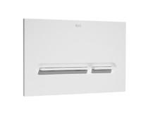 Tlačítko ovládací Roca PL5 Dual Flush bílá/matný chrom, A890099005, Roca