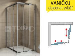 TOE3 sprchový kout s posuvnými dveřmi