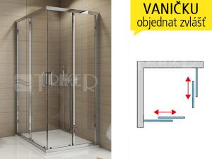 TOPAC sprchový kout sposuvnými dveřmi 700 (685-710 mm) profil:bílý, výplň:čiré sklo