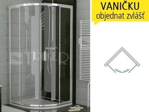 TOPR Sprchový kout 900/1900 R550 profil:chrom,výplň:čiré sklo