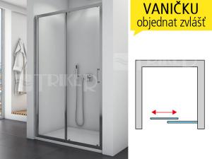 TOPS2 sprchové dveře jednodílné, posuvné 1200 (1175-1225 mm) profil:aluchrom, výplň:čiré sklo