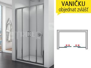 TOPS4 sprchové dveře posuvné 1200 (1175-1225 mm) profil:bílý, výplň:čiré sklo