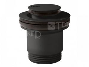 Tres Click-Clack umyvadlový ventil černý mat-malý