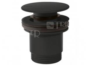 Tres Click-Clack umyvadlový ventil černý mat-velký