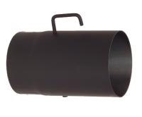 Trubka kouřovodu s klapkou 130 x 1,5 x 250mm černá
