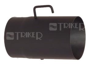 Trubka kouřovodu s klapkou 120 x 1,5 x 250mm černá