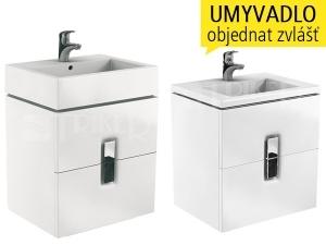 Twins skříňka se 2 zásuvkami pod umyvadlo 60 cm