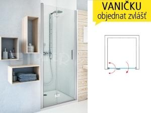 TZNL1 sprchové dveře zlamovací do niky TZNL1/1100 (1075-1110mm) profil:brillant, výplň:transparent