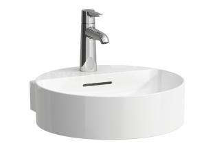 VAL umývátko 40 x 42,5 cm s otvorem pro baterii, bílé