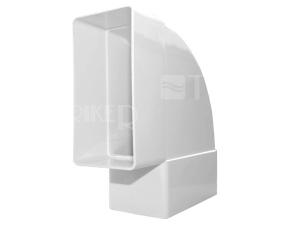 Ventilační koleno horizontální D/KPO ploché