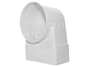 Ventilační koleno/přechodka D/KLZ trubková/plochá