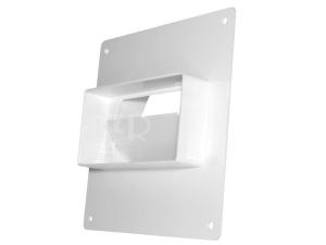 Ventilační montážní rámeček D/UZP nástěnný se zpětnou klapkou a redukcí 104/110 x 55 mm