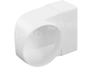 Ventilační přechodové koleno plochý/kulatý kanál Haco CKZ