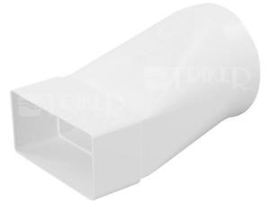 Ventilační přechodový kus plochý/kulatý kanál Haco CZD